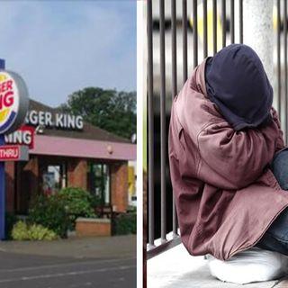 Senzatetto chiede cosa pu ordinare con 50 Cent al Burger King