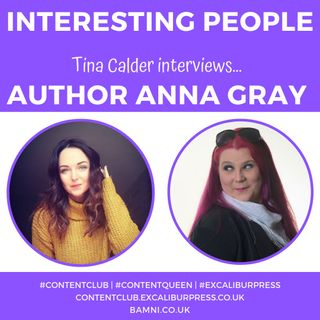 Tina Calder interviews Belfast author Anna Gray | #ContentQueen #TinaCalder