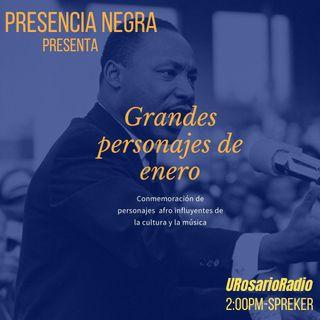 Grandes personajes de enero: conmemoración de personajes afro en la cultura y la música