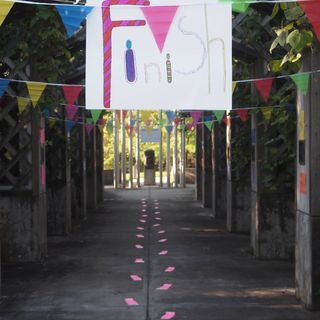 Montez & Shari Visit w Denise Ibsen Cole About the 26.2 Step Mini-Marathon