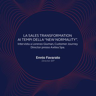 """La Sales Transformation ai tempi della """"new normality""""."""
