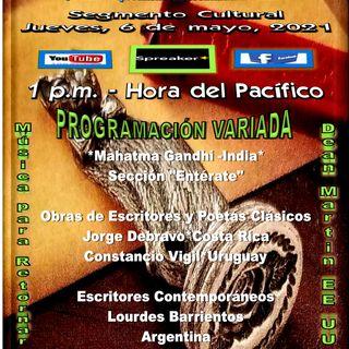 Programación Cultural y Literaria -Clásica y Contemporánea- Variada - Temas musicales en la voz de Dean Martin * EE. UU.