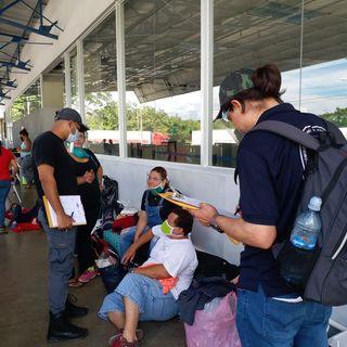 Nicaraguenses varados en Peñas Blancas cumplen más de 9 días en pésimas condiciones