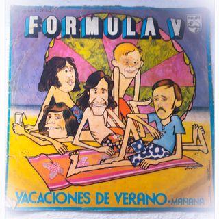 """""""Vacaciones de Verano"""" de Fórmula V, tiro de tópico con solera para desearte lo mejor."""