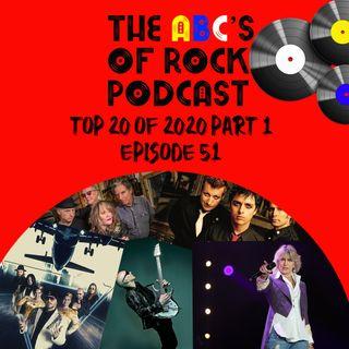 Top 20 of 2020 - Part 1 of 2 - Episode 51