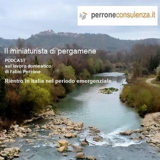 16 - Rientro in Italia nel periodo emergenziale