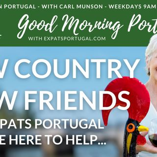 New country, new friends | Cindy B and the 'Living Room' on Good Morning Portugal!