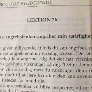 Lektion 26.  Et Kursus I Mirakler.