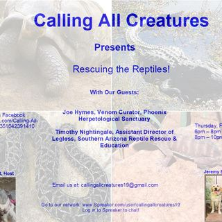 Rescuing the Reptiles with Joe Hymes and Timothy Nightingale