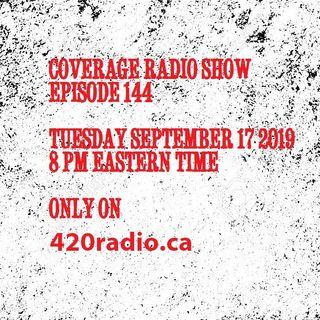 Coverage Radio Show #144 9-17-19