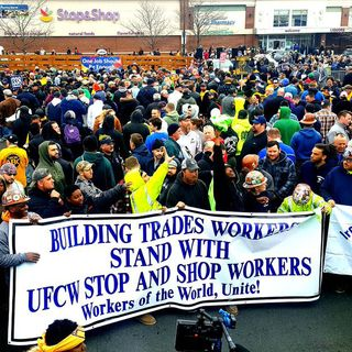 Joe Biden Rallies With Striking Stop & Shop Workers