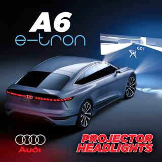 67. Audi A6 E-Tron Has Movie Projector Headlights | Shanghai Auto Show Reveal