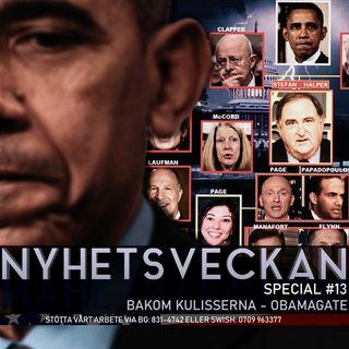 Nyhetsveckan Special #13 – Bakom kulisserna - Obamagate