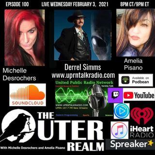 The Outer Realm With Michelle Desrochers and Amelia Pisano with there alien abduction expert Derrell Simms