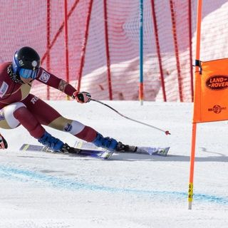 Ania Caill alpine skier of Romania interview by Fabrizio Malisan @skiracingcoach whilst she's in training Downhill at Zermatt Sept. 2021