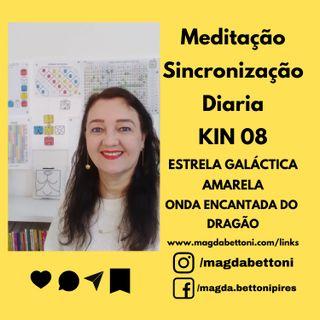 Meditação Sincronização Diária - Kin 8  - ESTRELA GALÁCTICA AMARELA
