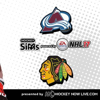 Avalanche vs Blackhawks (NHL 17 Hockey Sims)