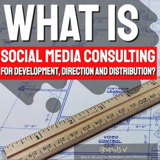 What is social media consultingfor development, direction and distribution?