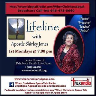 """Lifeline with Apostle Shirley Jones:  TWENTY-EIGHTEEN """"2018"""""""