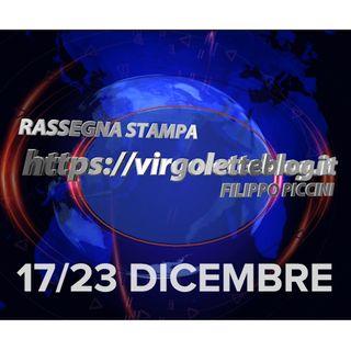 RASSEGNA STAMPA 17/23 dicembre | virgoletteblog.it