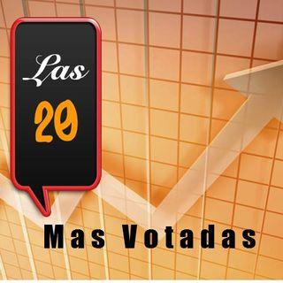 Las 20 Mas Votadas, Programa emitido los dias 22 y 23 de Junio - Ranking