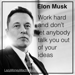 18: Don't let anybody talk you out of your ideas - Elon Musk