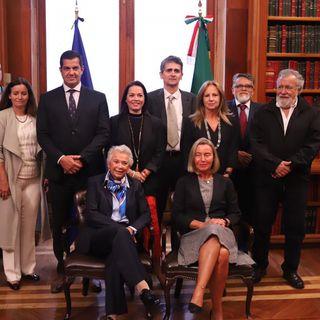 Sánchez Cordero se reúne con funcionarios de la Unión Europea