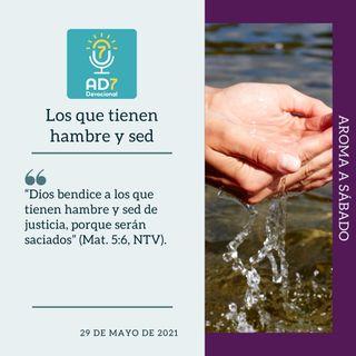 29 de mayo - Los que tienen hambre y sed - Devocional de Jóvenes - Etiquetas Para Reflexionar