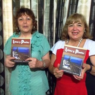 Poeta Lucia Urquizú y Cristina Amengual
