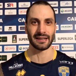 """Verona: Matey Kaziyski commenta il debutto scaligero. """"Soddisfatto della vittoria ma potevo dare di più"""""""