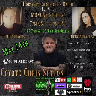Horsefly Chronicle's Radio host Julia Siracusa Philip Siracusa Special Guest Chris Sutton