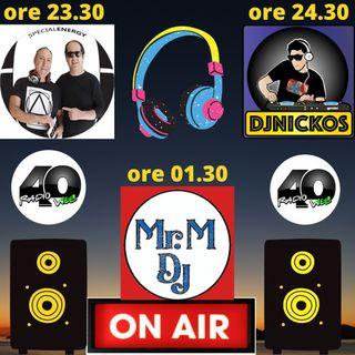 """Radio 40 """" LA NOTTE DEGLI DEI"""" Giovedi Notte 18/02/2021"""