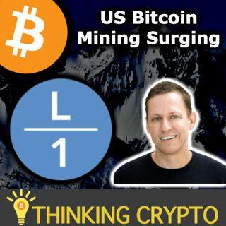 BITCOIN DUMP! - Peter Thiel Layer1 Bitcoin Mining Texas - Samsung S20 Crypto - Coinbase Visa
