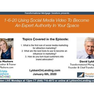 1-6-20 Using Social Media Video to Become An Expert Authority In Your Space