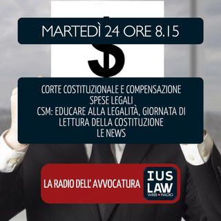 COMPENSAZIONE SPESE LEGALI | CSM - CULTURA DELLA LEGALITÀ - Martedì 24 Aprile 2018 #Svegliatiavvocatura