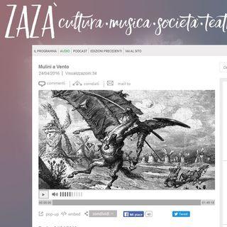 Zazà Radiotre: intervista ad Antonella Cilento e Francesco Durante su Strane Coppie 2016