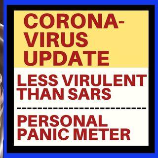 CORONAVIRUS UPDATE: LESS VIRULENT THAN SARS?