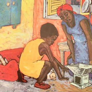 Cuentos para niños: las aventuras del hornillo de carbón, Nana Adoma