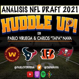 #HuddleUP #NFLDraft Análisis #Washington #Texans #Bengals #Buccaneers con @TapaNava y @PabloViruega