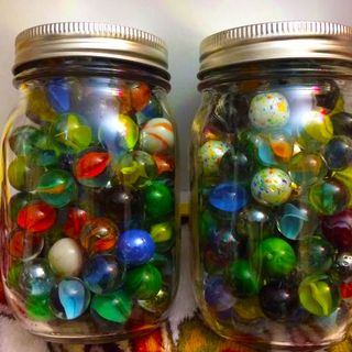 A market for collecting vintage marbles