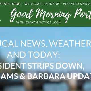Bare President, beachcams & an e-bike on Good Morning Portugal!