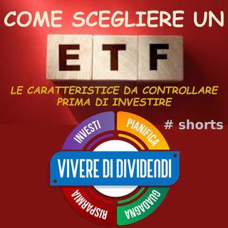 COME SCEGLIERE UN ETF   LE CARATTERISTICE DA CONTROLLARE PRIMA DI INVESTIRE #shorts