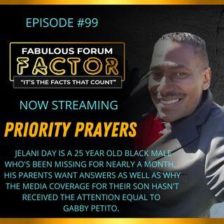 Priority Prayers  (September 22, 2021)