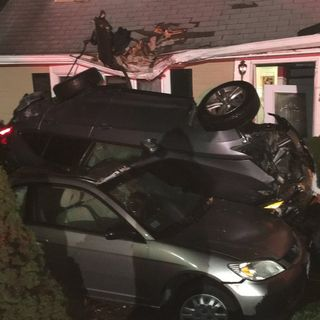Truck Smashes Into Burlington Home