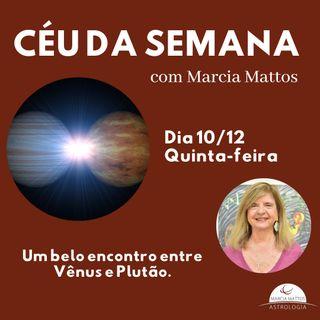 Céu da Semana - Quinta, dia 10/12: Um belo encontro entre Vênus e Plutão.