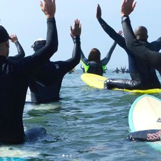 NYC Surfer's Unite at Paddle for George Floyd