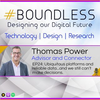 EP24: Thomas Power, Advisor and Connector, Ubiquitous platforms and reliable data...and we still can't make decisions.