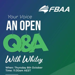 FBAA Q&A with Whitey! - 8th October 2020