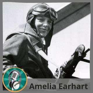 Olga i Paz Carmona con Amelia Earhart