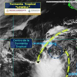 Se forma tormenta tropical Lowell en el Pacífico
